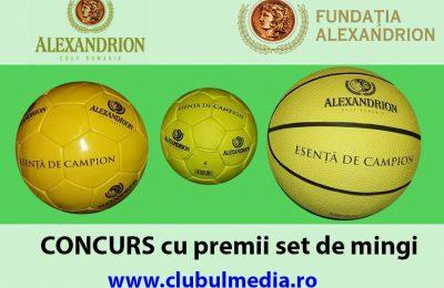 Câștigă mingi cu Alexandrion Grup Și Fundația Alexandrion