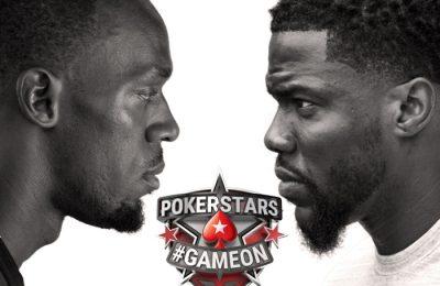 Usain Bolt și Kevin Hart se înfruntă în #Gameon bătălia creierelor pe Pokerstar