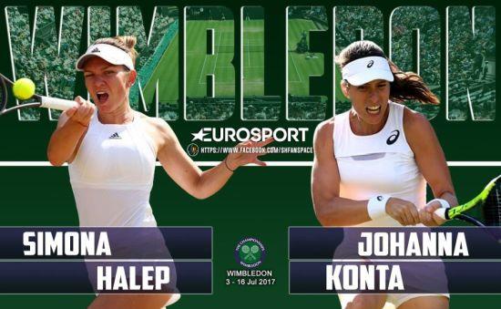 Halep va juca, marţi, în jurul orei 17.00, cu Konta, în sferturi la Wimbledon