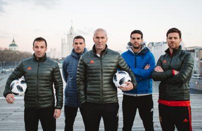 Messi, Zidane, Kaká, Del Piero, Xavi și Podolski, la evenimentul de lansare adidas Telstar 18 pentru CM FIFA 201