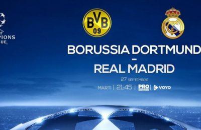 Borussia Dortmund - Real Madrid, în direct la Pro TV, marţi, de la ora 21.45