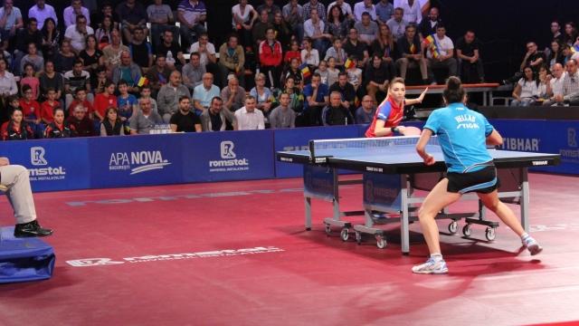 Premieră europeană: studiourile TVR găzduiesc meciuri de tenis de masă
