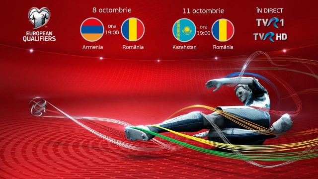 Armenia – România şi Kazahstan-România, live la TVR