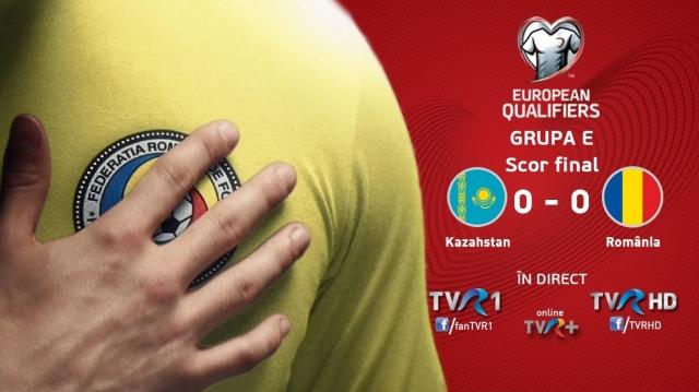 TVR 1, lider de audienţă cu partida Kazahstan-România