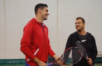 Cântărețul Peter Pop a jucat tenis cu Victor Hănescu