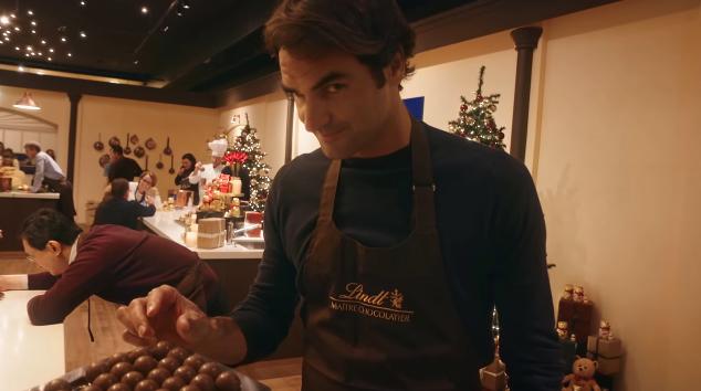 Roger Federer, la un manequin challenge Lindt