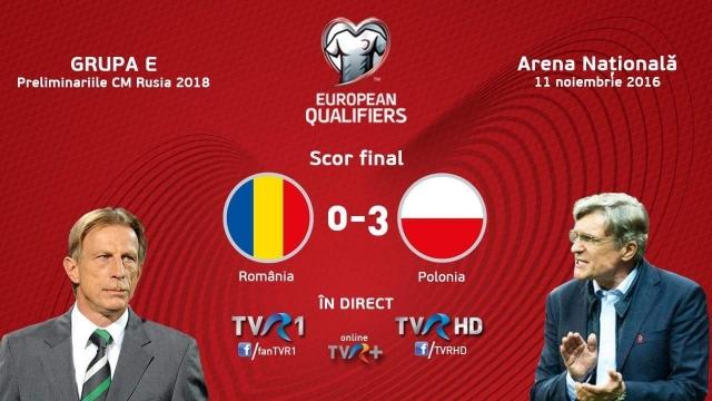 TVR 1, lider de audienţă cu România-Polonia. Cel mai urmărit meci al anului la TVR