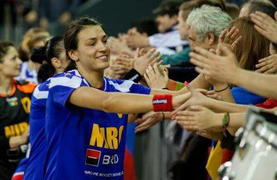 Cristina Neagu, cea mai bună marcatoare din acțiune, cu 39 de goluri la Campionatul European