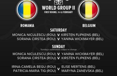 Belgia - România, scor 2-0, după prima zi în Fed Cup
