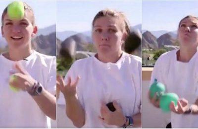 Simona a jonglat cu mingi de tenis şi cu avocado până la meciul cu Donna Vekici