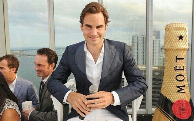 Roger Federer, la petrecerea Moët & Chandon din Miami