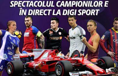 Spectacol, emoție și dramă, în luna aprilie, la Digi Sport