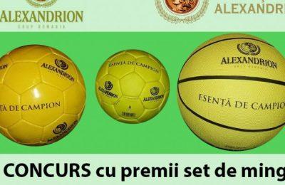 """Concursul """"Câștigă mingi cu Alexandrion Grup"""" continuă cu etapa a șaptea"""