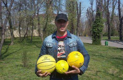 """Petre Bogdan din București, câștigătorul celei de a șasea etape a concursului """"CÂȘTIGĂ MINGI CU ALEXANDRION GRUP"""""""