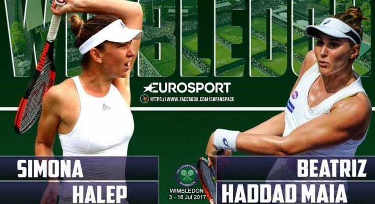 Simona Halep evoluează mâine, după ora 18.30, contra lui Beatriz Haddad Maia, la Wimbledon