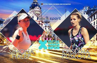 La ce oră este programat meciul dintre Halep şi Pliskova din optimi, la Madrid Open